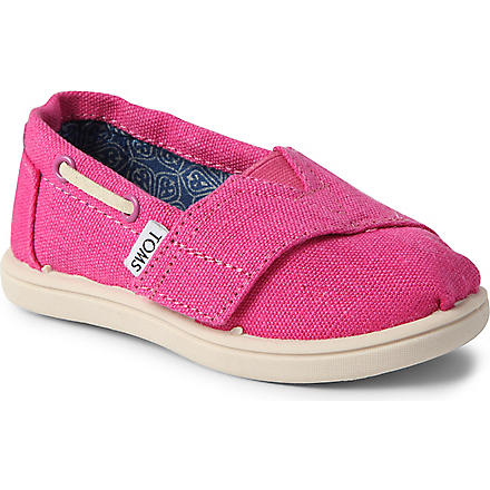 TOMS Earthwise Vegan classic slip-on shoes 1-11 years (Pink