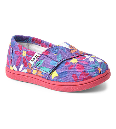TOMS Daisy slip-on shoes (Purple