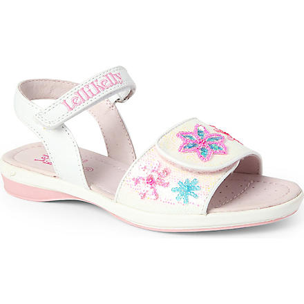 LELLI KELLY Glitter jewel sandals 3-8 years (White