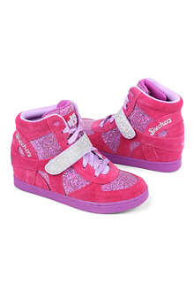 SKECHERS Glitter wedge high-top trainers 6-9 years