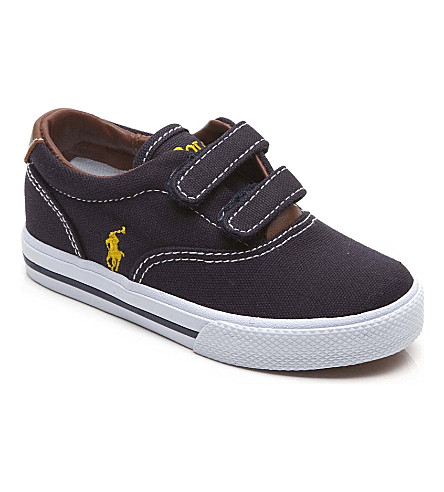RALPH LAUREN Canvas velcro trainers 3-8 years (Navy