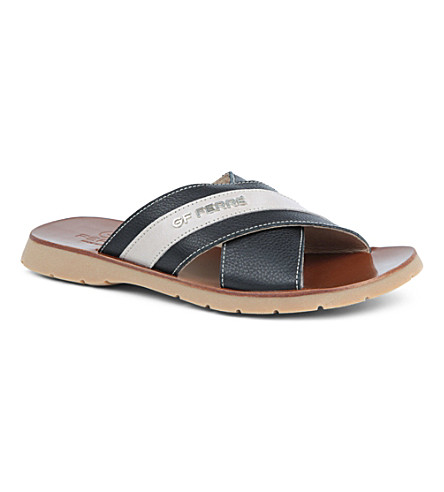 GF FERRE Leather slip-on sandals 7-12 years (Black