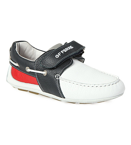 GF FERRE Junior leather boat shoes 7-11 years (Multi