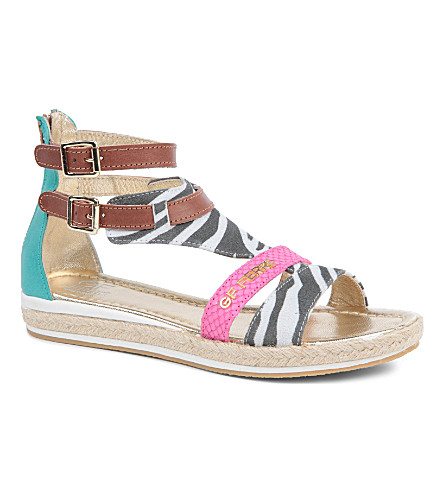 GF FERRE Printed sandals 7-10 years (Tan