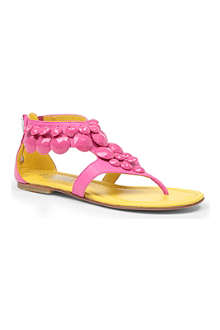 ANDREA MONTELPARE Embellished thong sandals 7-10 years
