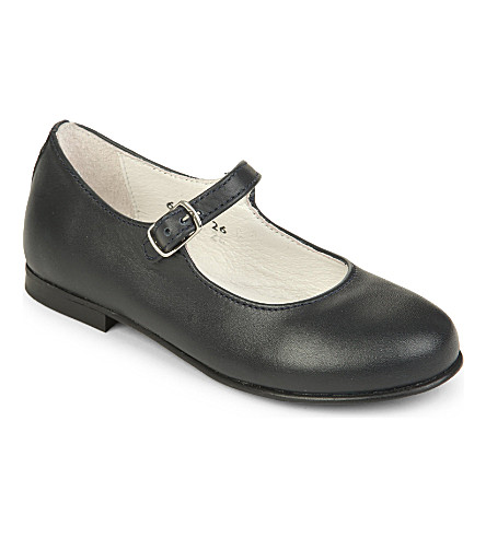 STEP2WO Leila mary jane leather shoes 2-5 years (Navy+leather