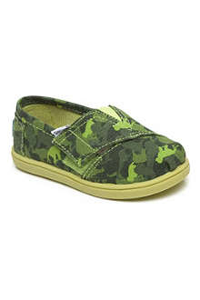 TOMS Unisex canvas animal camouflage shoes 1-13 years