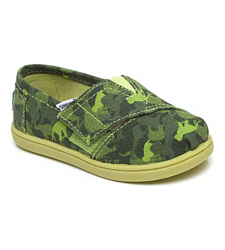 TOMS Unisex canvas animal camouflage shoes 1-13 years (Camouflage