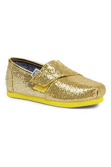 TOMS Glitter-embellished slip-on shoes 3-11 years