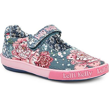 LELLI KELLY Swarovski-embellished shoes 3-9 years (Navy