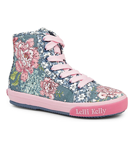 LELLI KELLY Swarovski-embellished high-top trainers 6-10 years (Navy