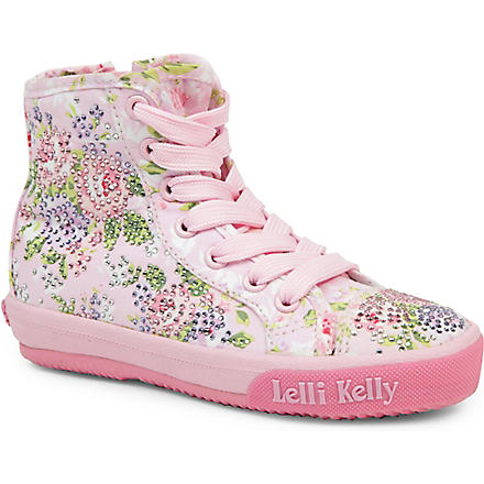 LELLI KELLY Swarovski-embellished high-top trainers 6-10 years (Pink