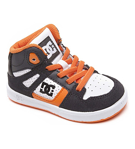 STEP2WO Hi-top contrast panel trainers 2-5 years (Grey