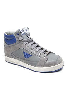 ARMANI JUNIOR Stained effect trainers 3-12 years