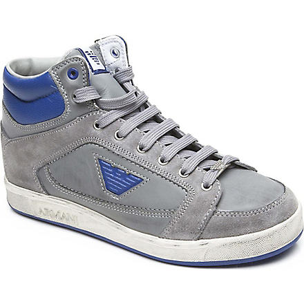 ARMANI JUNIOR Stained effect trainers 3-12 years (Blue