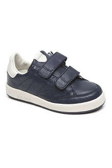 ARMANI JUNIOR Leather double strap trainers 6 months-9 years