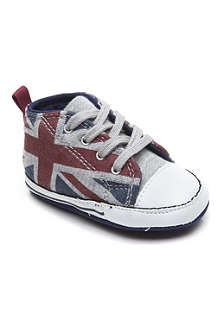 CONVERSE Union Jack soft canvas trainers 0-1 year