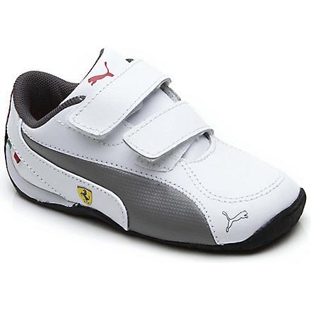 PUMA Ferrari Drift Cat trainers 1-10 years (White