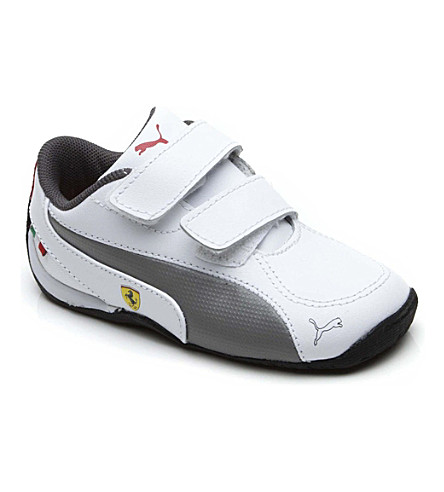 PUMA Ferrari Drift Cat trainers 1-10 years (White