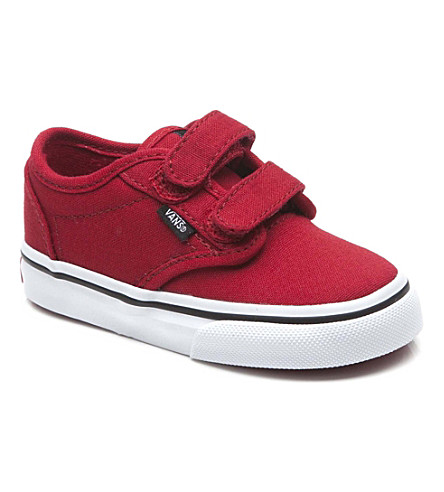 VANS Unisex velcro trainers 2-5 years (Red