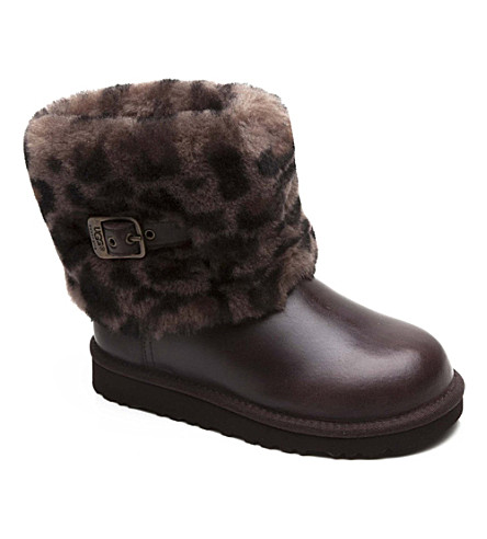 UGG Ellee Animal sheepskin boots 7-11 years (Brown