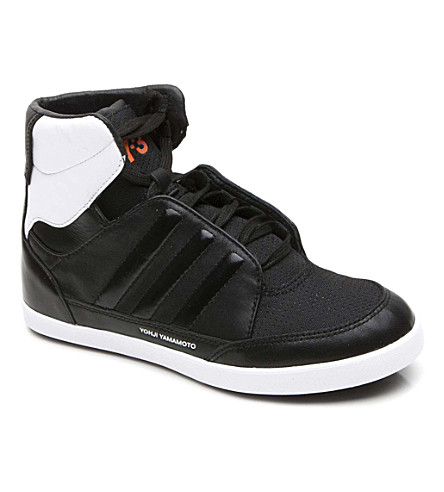 Y3 High-top trainers 8-10 years (Black