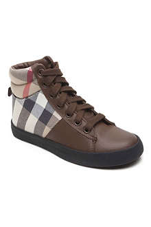 STEP2WO Burberry high top trainer 6-11 years