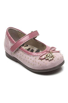 STEP2WO Studded suede ballet shoes 1-4 years