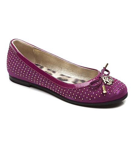 STEP2WO Studded suede ballet shoes 7-11 years (Fuchsia