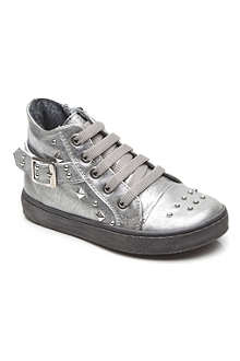 HIP SHOES Studded leather trainer 2-5 years
