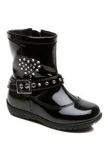 LELLI KELLY Patent heart-embellished ankle boots 2-5 years