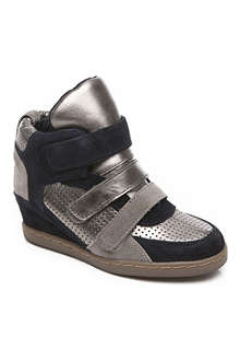 ASH Metallic high-top trainers 7-11 years