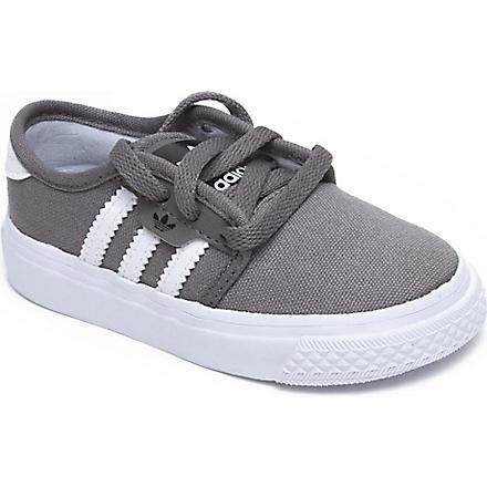 ADIDAS Seeley canvas trainers 2-11 years (Grey