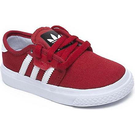 ADIDAS Seeley canvas trainers 2-11 years (Red
