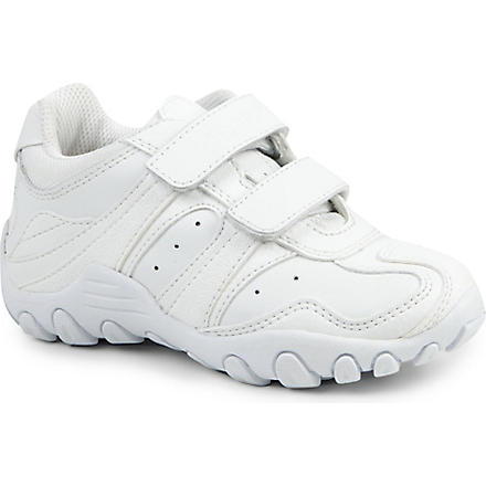 GEOX Crush leather trainers 4-11 years (White