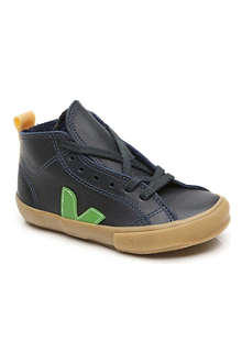 VEJA Leather high-top lace-up trainers 6-9 years