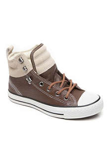 CONVERSE Leather padded high-top trainers 6 months-3 years