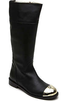 VERSACE Gold toe cap leather boots 8-13 years