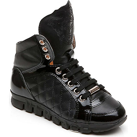 VERSACE Hi-top trainers (Black
