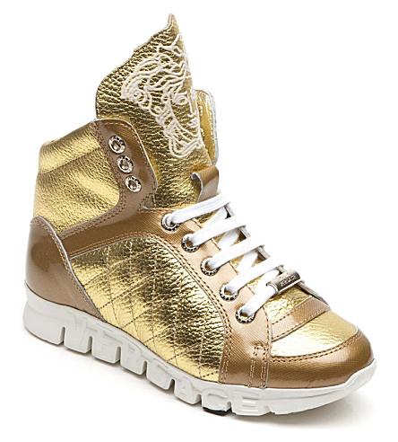VERSACE Hi-top trainers (Gold