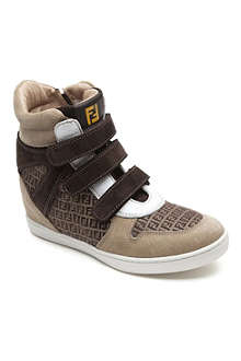 FENDI Hightop wedge trainers 7-9 years