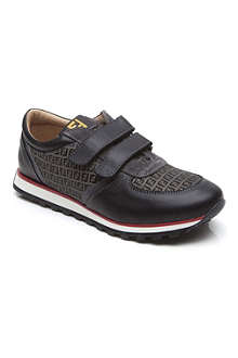 FENDI Logo-print double-strap trainers 1-10 years