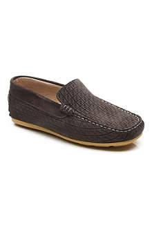FENDI Small logo suede loafers 7-12 years