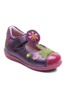 AGATHA RUIZ DE LA PRADA Metallic T-bar shoes 6 months-3 years