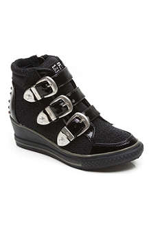 REPLAY Buckled wedge trainers 6-12 years