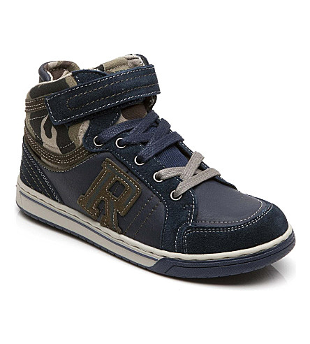 REPLAY Army-print trainers 6-12 years (Navy