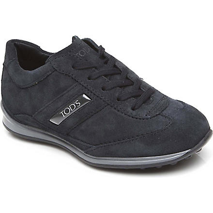 TODS Suede classic trainers 6-9 years (Navy