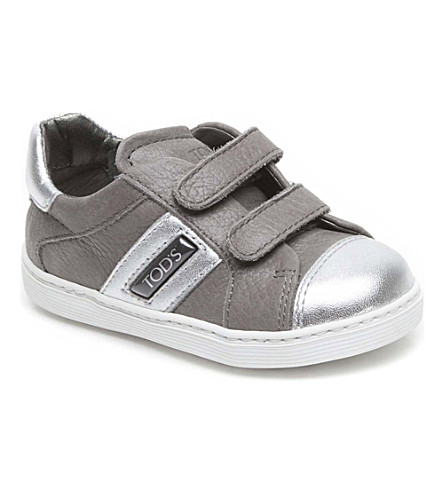 TODS Metallic leather trainers 2-5 years (Grey