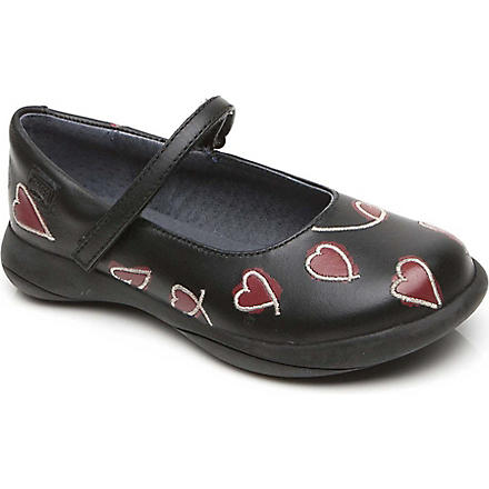 CAMPER Heart Mary Jane shoes 6-8 years (Black