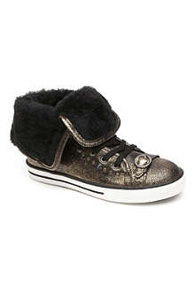 SUPERTRASH FTW Studded metallic high-top trainers 7-11 years